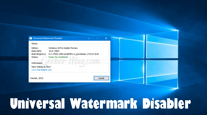 Universal Watermark Disabler - The Windows 10 Watermark Remover