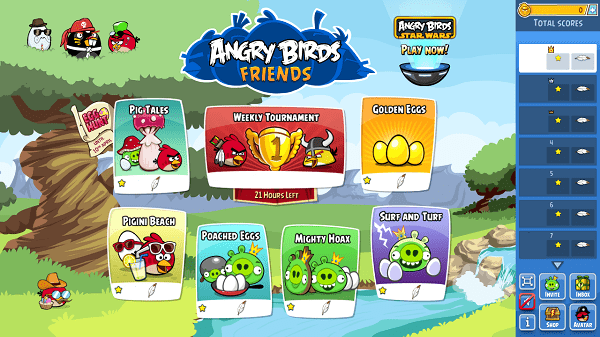 angry birds friends for facebook