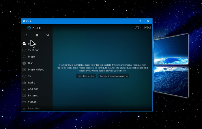 how to make kodi full screen in windows 10