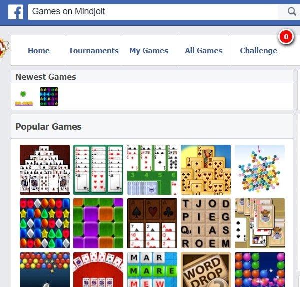 facebook mindjolt games