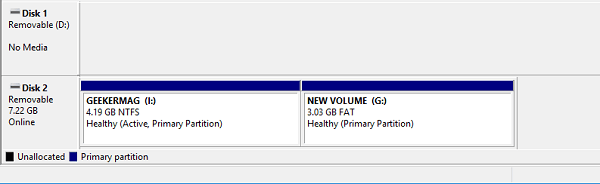 partition usb drive in windows 10