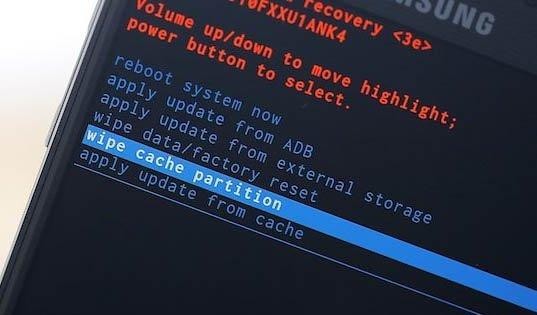 wipe cache partition samsung galaxy s5