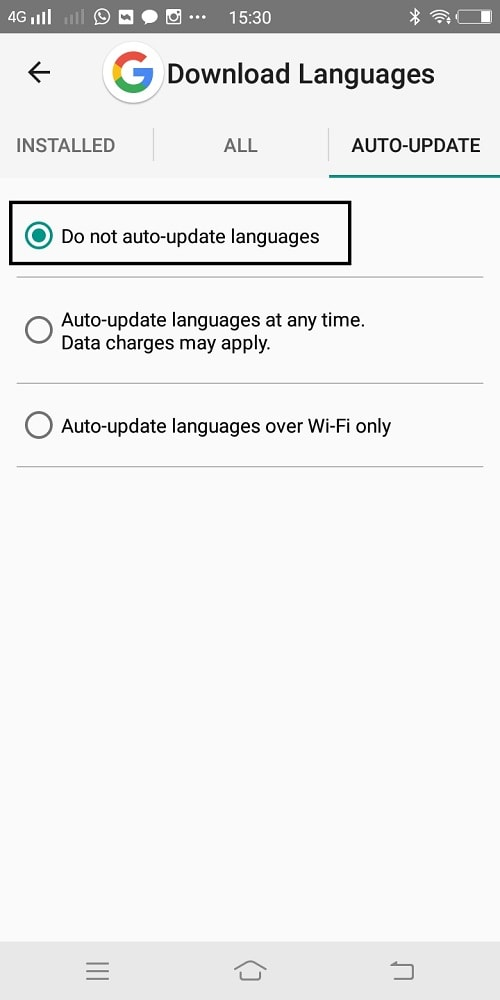 do not autoupdate language