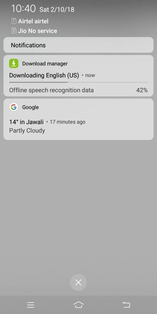 downloading english us offline speech recognition data