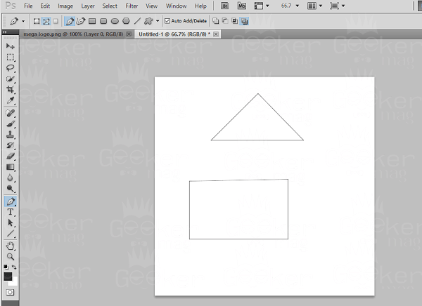draw triangle using pen tool in photoshop