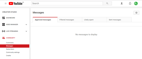 youtube inbox