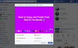 How to copy and paste on facebook for android, ios and web