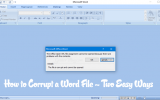how to corrupt a word file