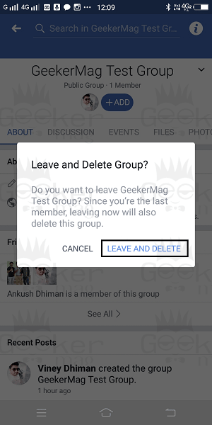 leave and delete