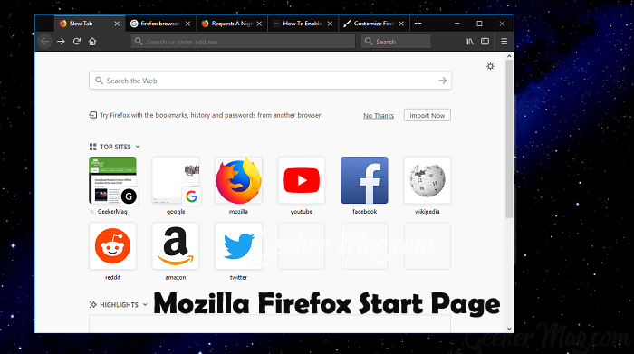 How to Customize Mozilla Firefox Start Page [Five Ways]