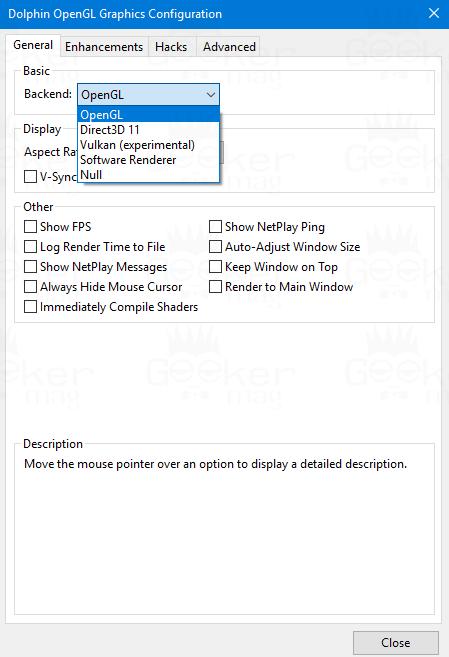 display settings dolphin emulator