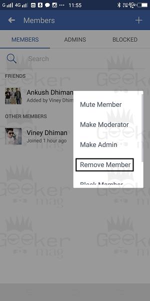 remove group member
