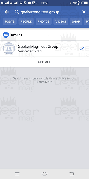 search facebook group