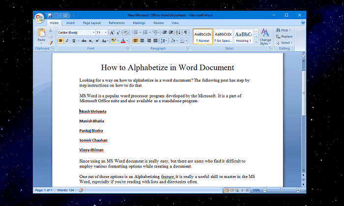 How to Alphabetize in Word Document