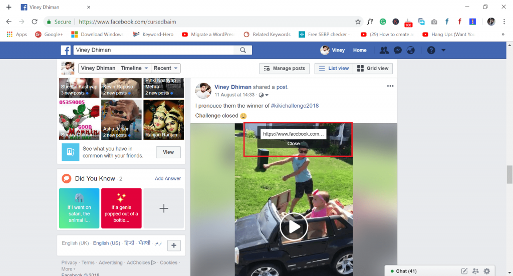 download facebook videos - copy video url