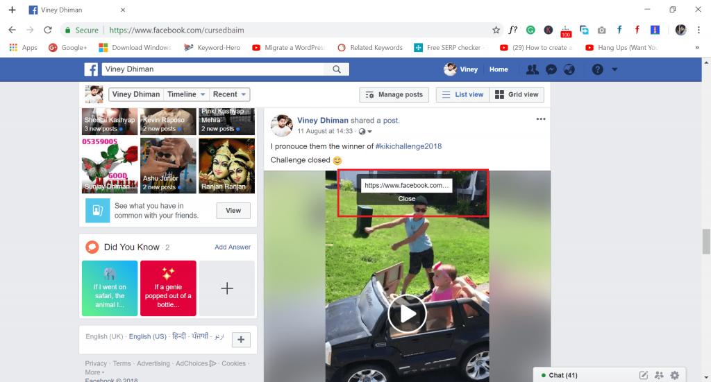 download facebook videos - copy video url