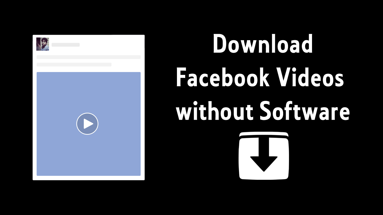 how to download facebook videos to pc without software