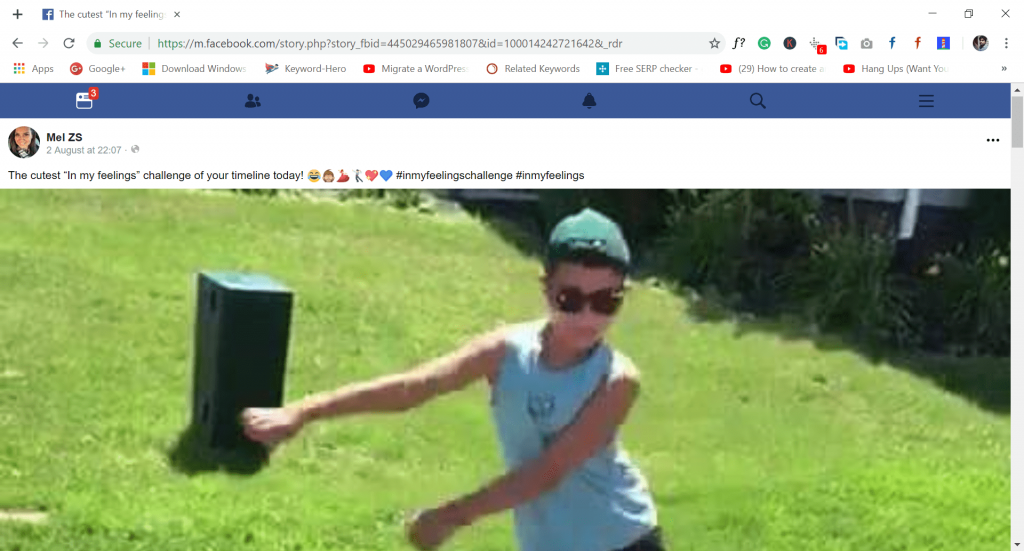 play the facebook video