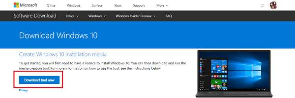 download windows 10 media creation tool