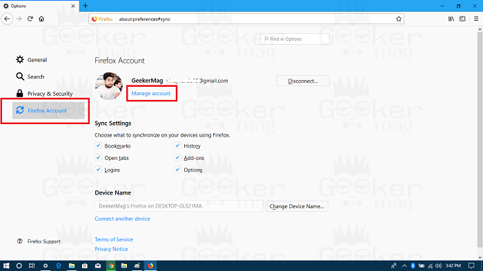 manage facebook account