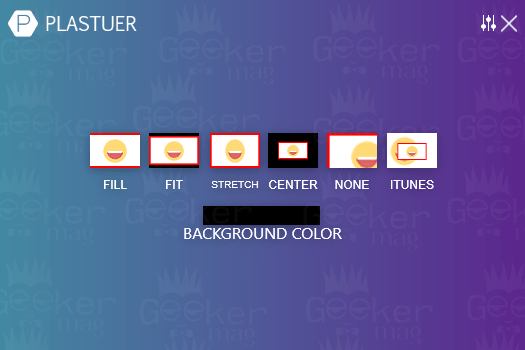 plastuer video settings