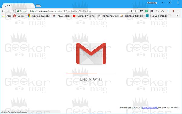 loading new gmail