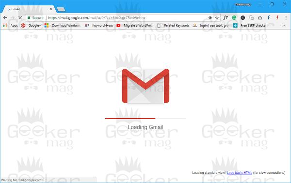 loading new gmail