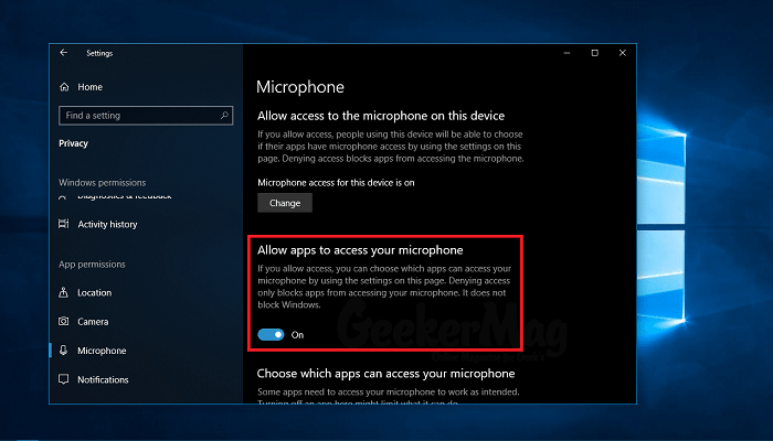 Microphone not working in Windows 10 April 2018 Update