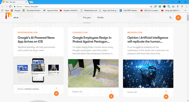mix - site like stumbleupon