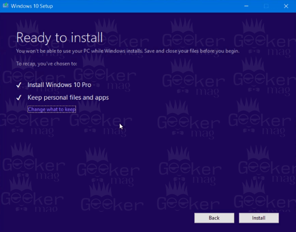 windows 10 media creation - ready to install