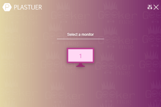 select a monitor - plastuer