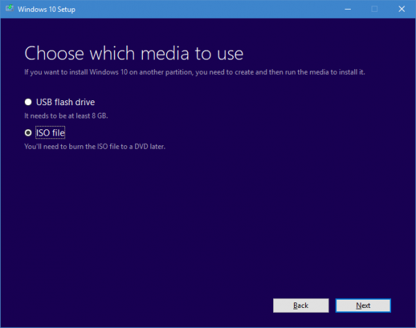 Choose which media to use