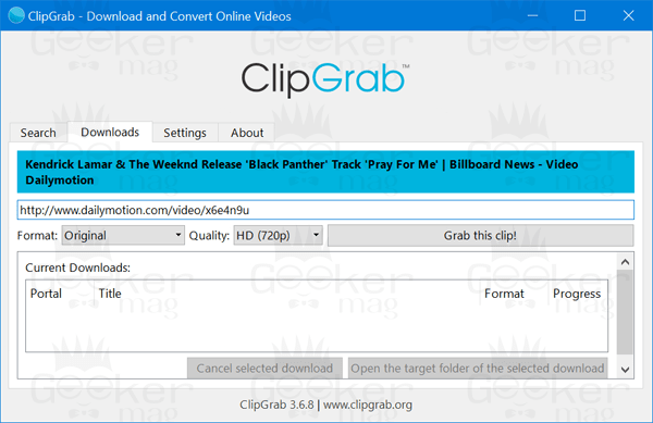 clipgab- dailymotion video downloader
