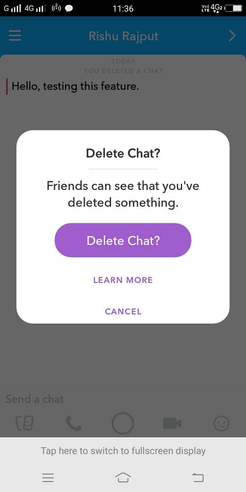 delete chat