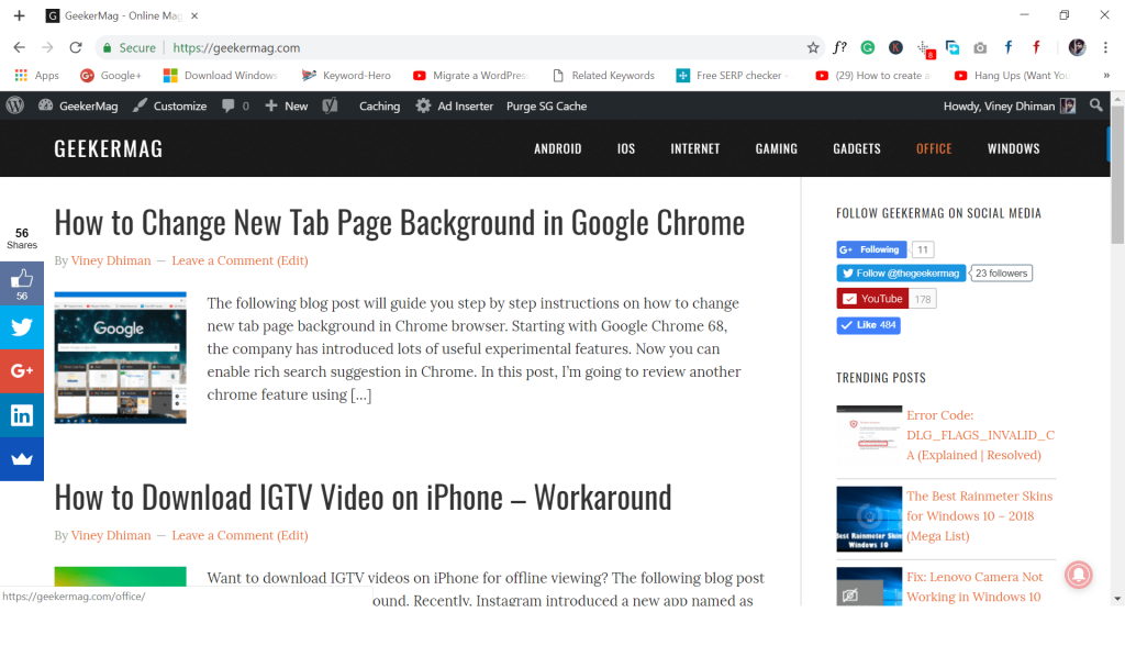 google chrome material design look