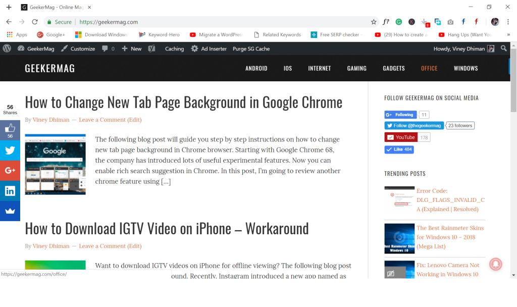 google chrome material design look