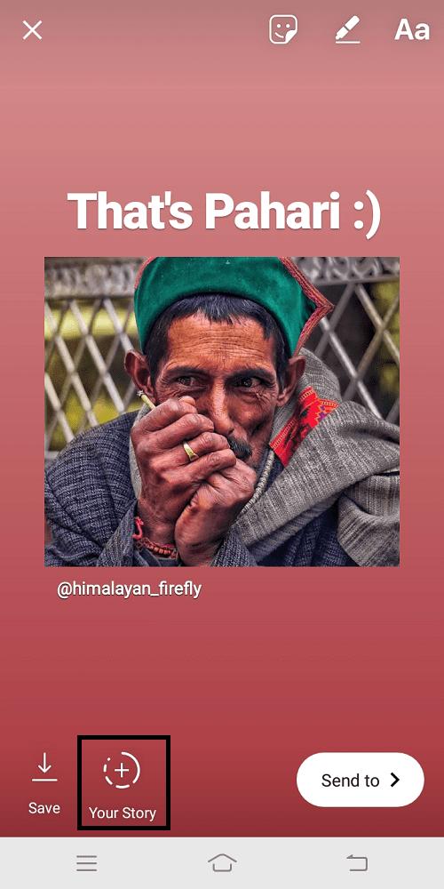 instagram share story