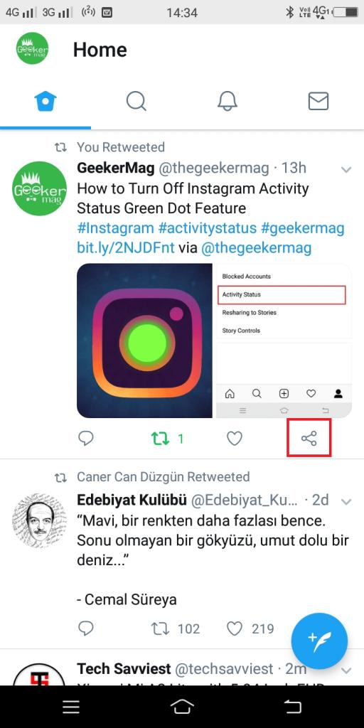tweet share button