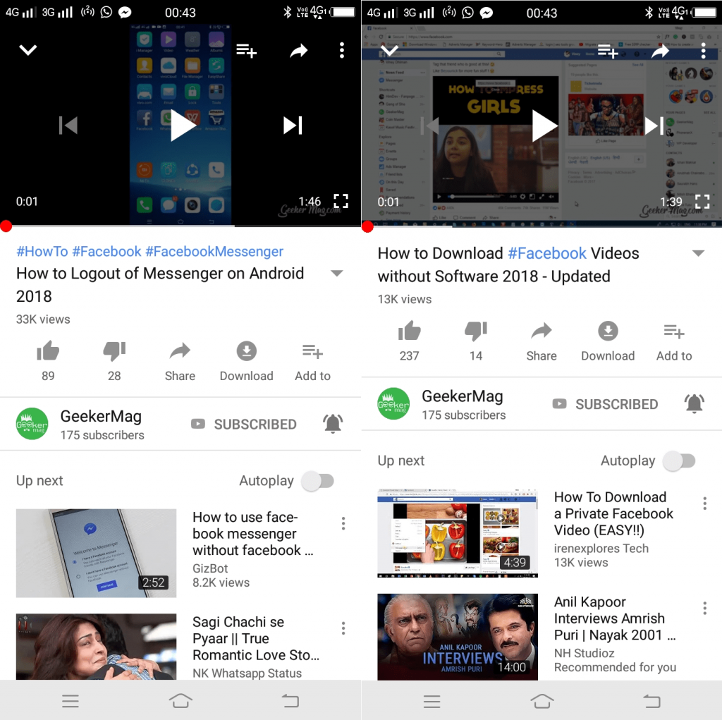 youtube hashtags feature on android app