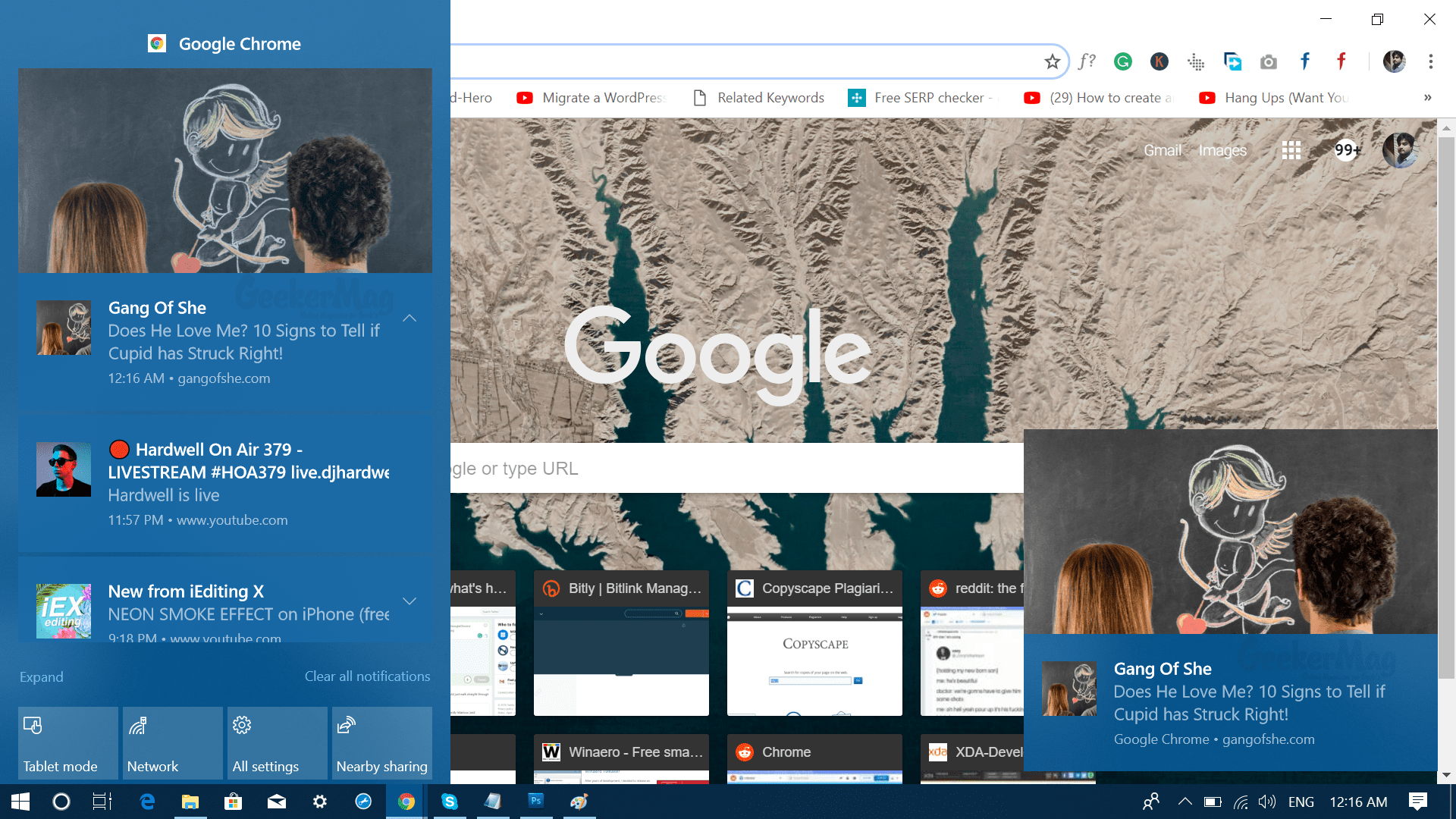 Enable & Disable Native Google Chrome Notifications in Windows 10