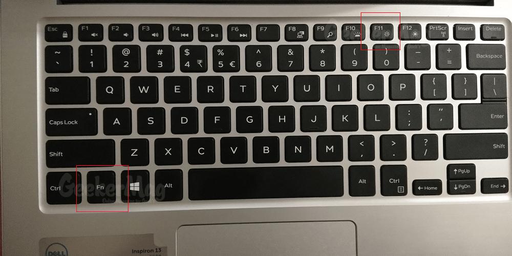 f11 and fn keyboard shortcut