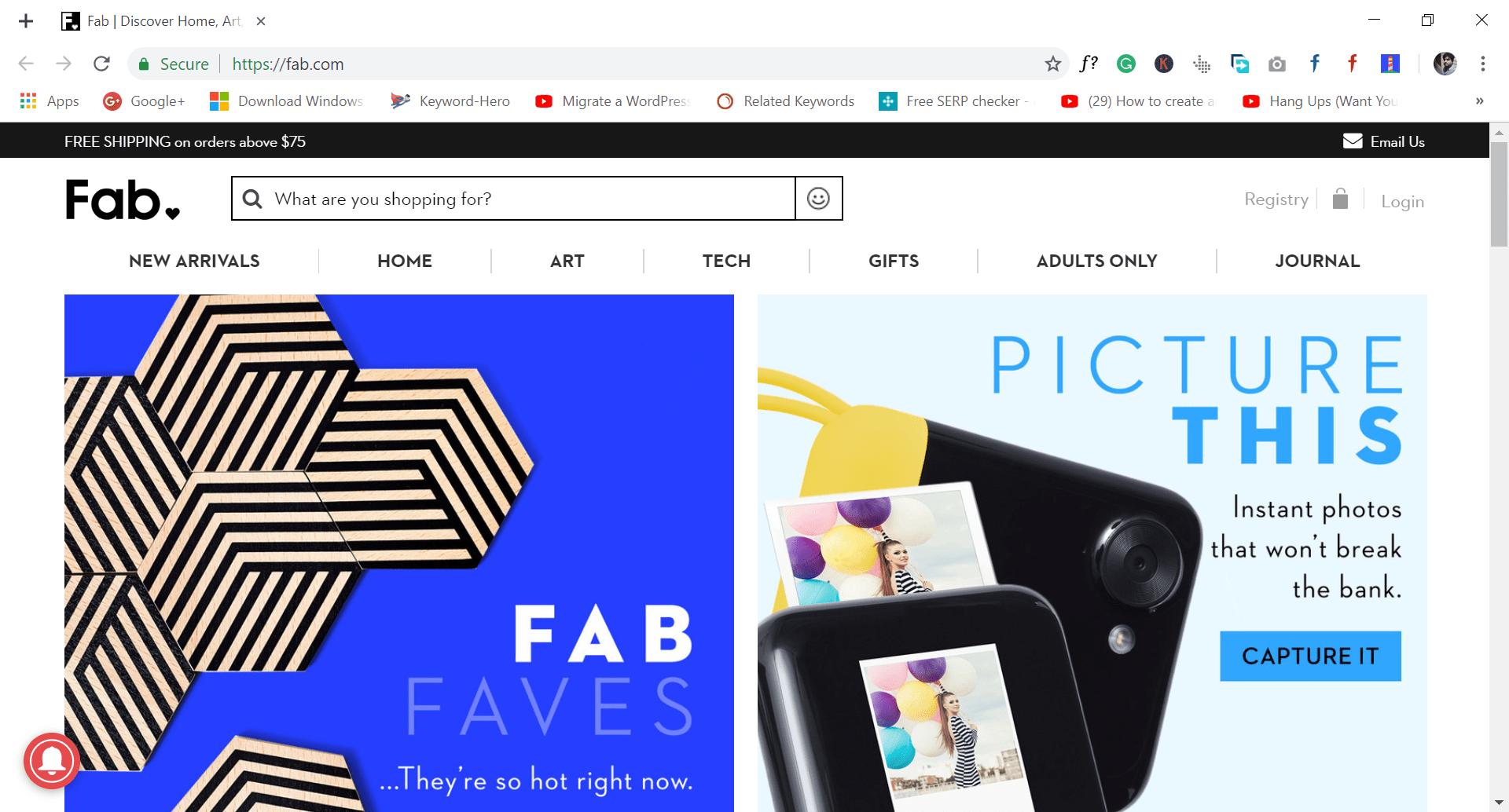 fab - site like wish.com