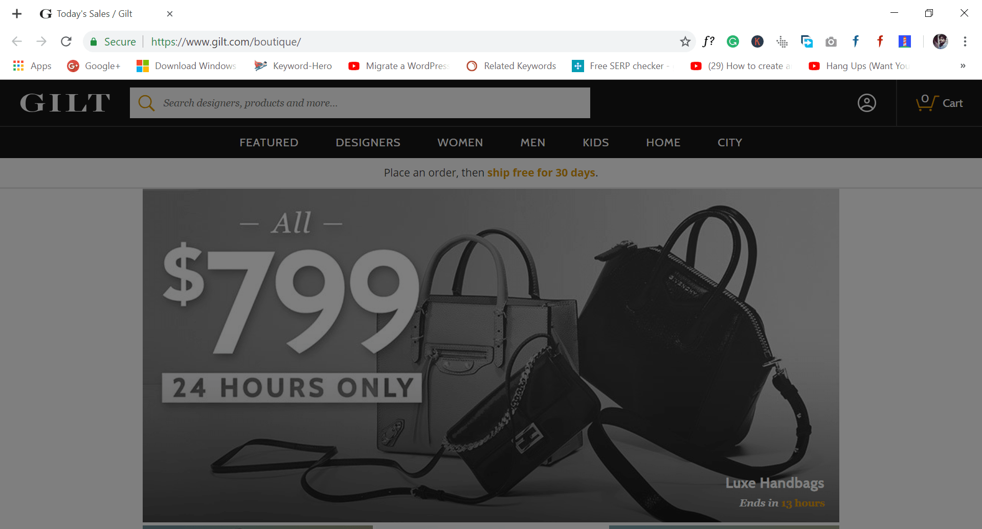 gilt - site like wish.com