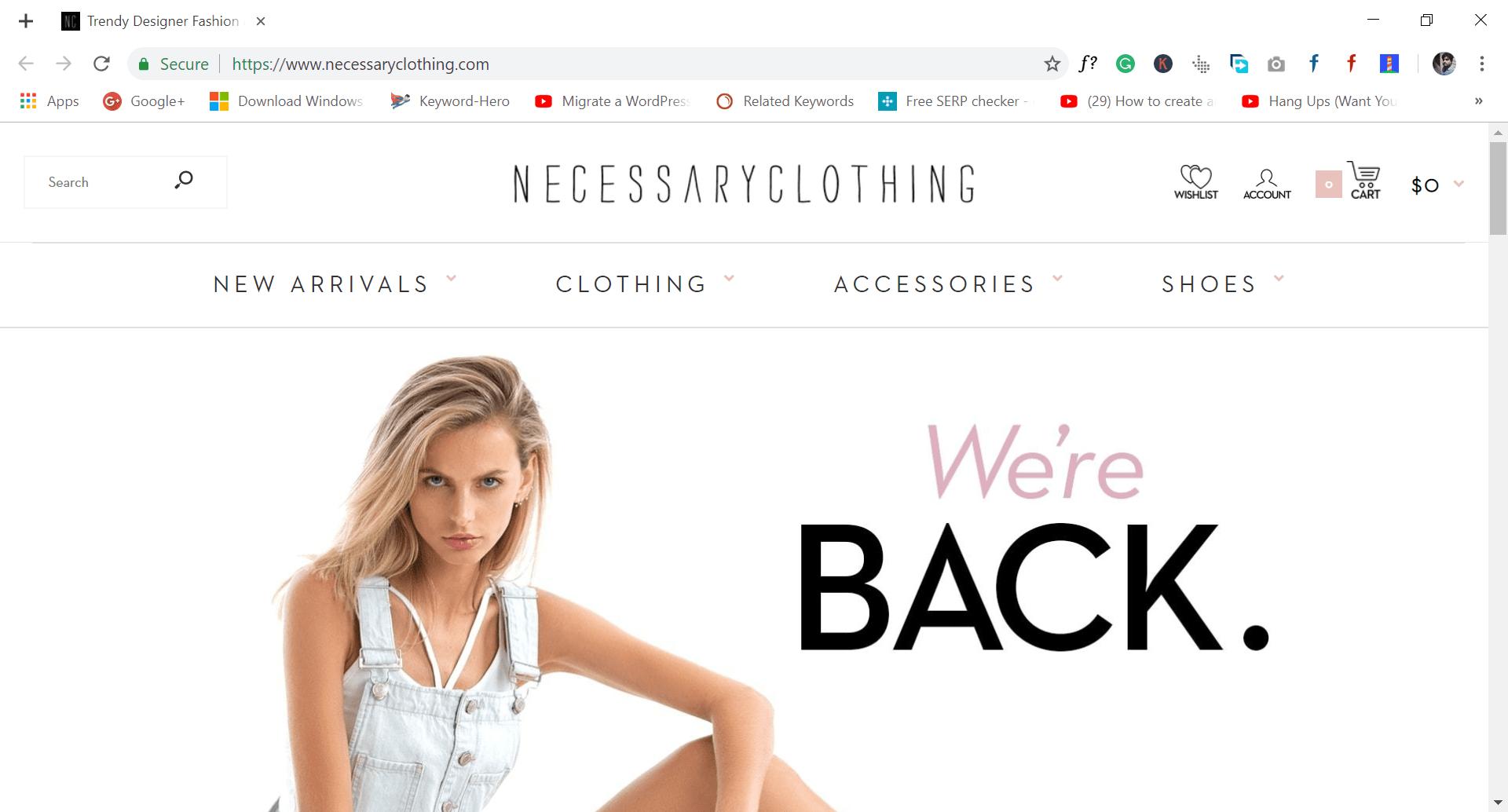 necessary clothing - site like wish.com