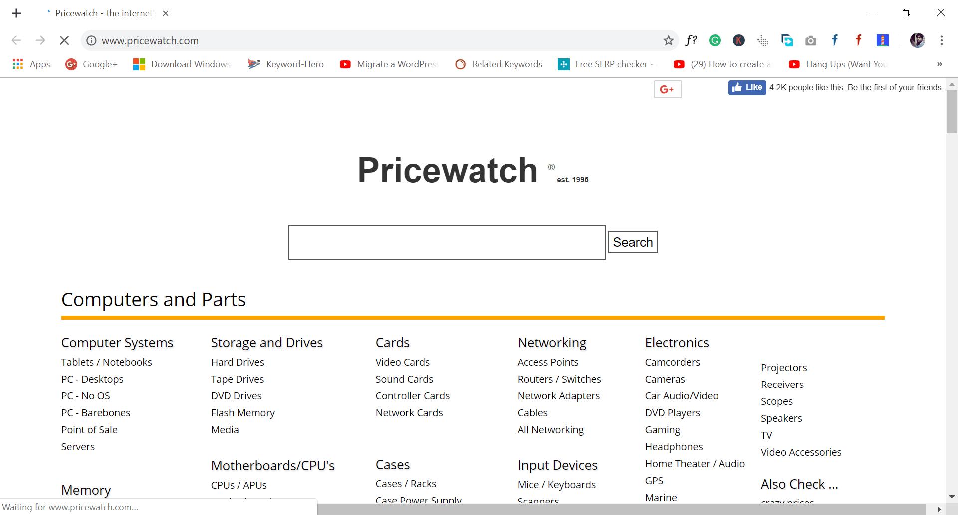 site like wish.com - pricewatch