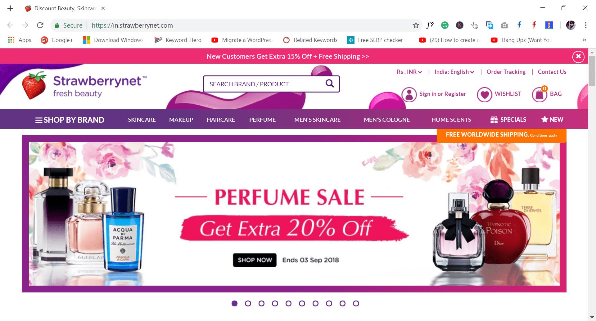 strawberrynet - site like wish.com