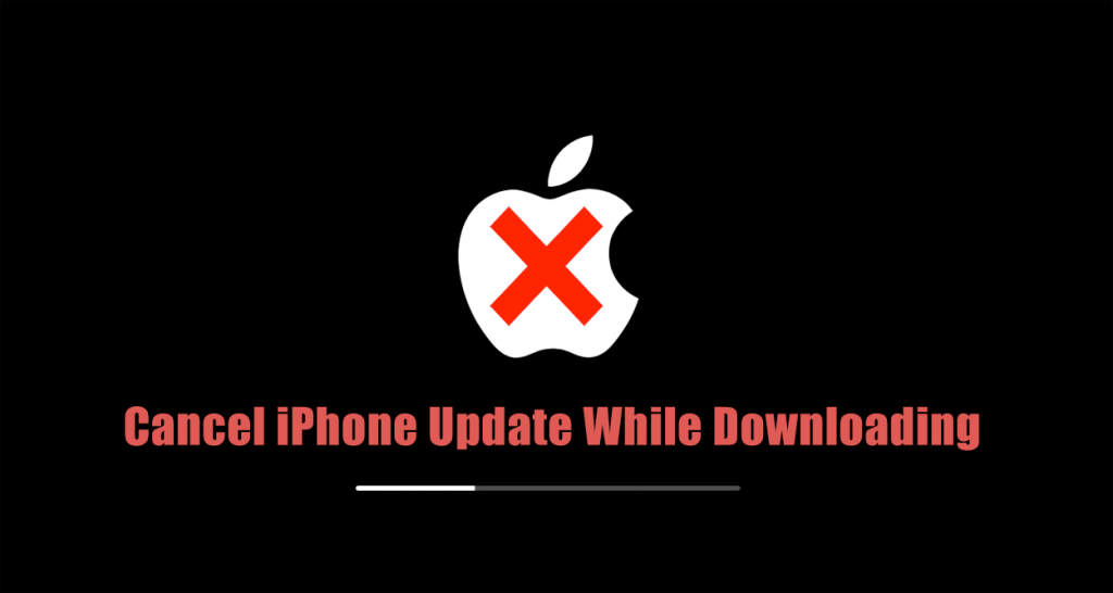 how to stop iPhone update in progress