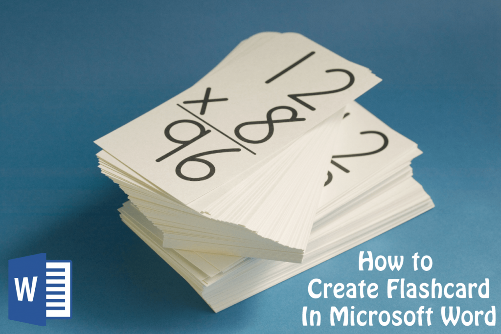 How to Make Flashcards on Word