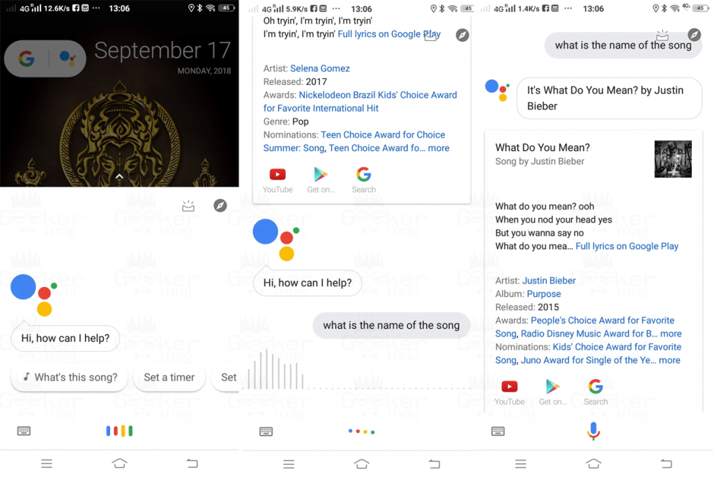 find the name of the song using google assistant