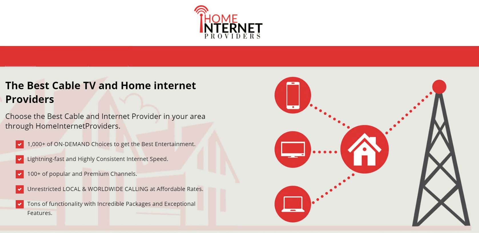 Tv And Internet Providers >> Home Internet Providers The Best Cable Tv And Home Internet Providers